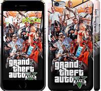 """Чехол на iPhone 6 Plus GTA 5. Collage v2 """"2815c-48"""""""
