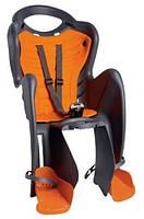 Сиденье заднее BELLELLI MR FOX Clamp (серый с оранжевым) (SAD-25-A2)