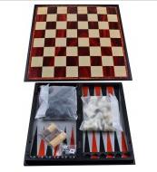 Набор 3в1 Нарды, Шахматы, Шашки (Магнитная доска) №37710