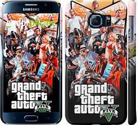 "Чехол на Samsung Galaxy S6 G920 GTA 5. Collage v2 ""2815c-80"""