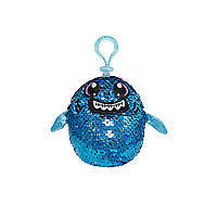 Мягкая игрушка с пайетками SHIMMEEZ S2 – АКУЛА ЗУБАСТИК (9 см, на клипсе) (SH01052SH)