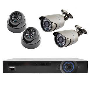 Комплект для видеонаблюдения KN007904DP Серый (30-SAN255)