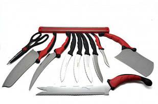 Набор кухонных ножей CPK КонтурПро 11 шт Красный с черным (31-SAN024)
