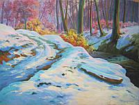 Картина масло большая художник Брензович