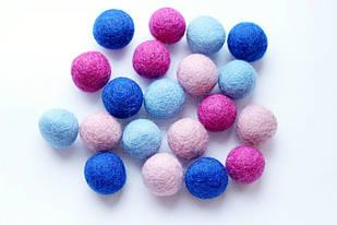 Набір шерстяних кульок Pugovichok Загадкова фіалка 16 шт (SUN3945)