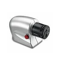 Универсальная электрическая точилка для ножей и ножниц Серебристая (31-SAN108)