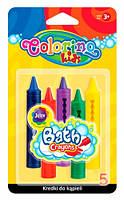 Мелки для рисования в ванне, блистер, 5 цветов, Colorino (67300PTR)