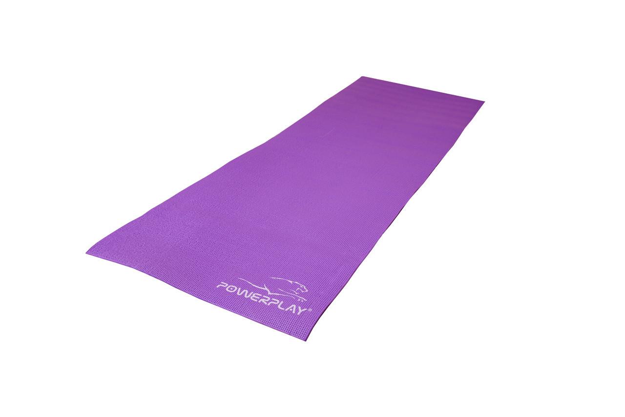 Коврик для фитнеса и йоги PowerPlay 4010 173х61х0.6 см Фиолетовый (36-143782)