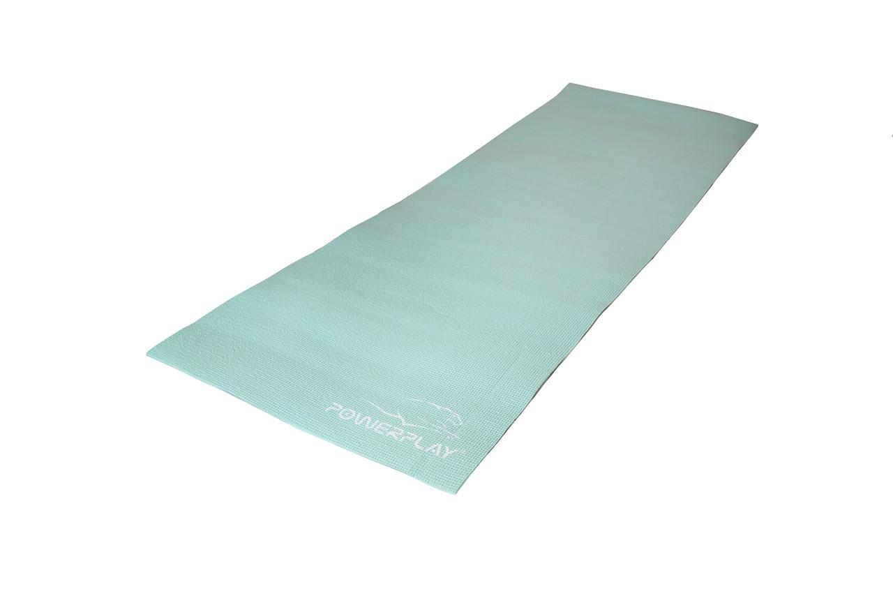 Коврик для фитнеса и йоги PowerPlay 4010 183х61х0.6 см Мятный (36-143783)