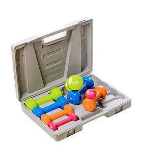 Набор гантелей в кейсе PowerPlay 4120 10 кг 8 шт (36-143659)