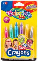 Краски для лица Metallic, 6 карандашей, Colorino (65917PTR)