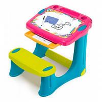 Парта мольберт Школьник Magic, детская мебель Smoby (420219)
