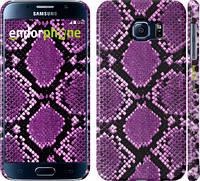 "Чехол на Samsung Galaxy S6 G920 Фиолетовая кожа змеи ""1005c-80"""