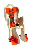 Сиденье задн. Bellelli B1 Сlamp (на багажник) до 22кг, бежевое с оранжевой подкладкой (SAD-25-B5)