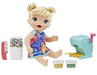 Кукла HASBRO малышка и макароны (блондинка) (E3694)