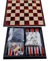 Набор 3в1 Нарды, Шахматы, Шашки (Магнитная доска) №57710