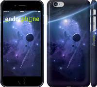 """Чехол на iPhone 6 Plus Планеты в синем космосе """"171c-48"""""""