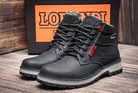 Мужские  зимние кожаные ботинки Wrangler Arizona black, фото 1