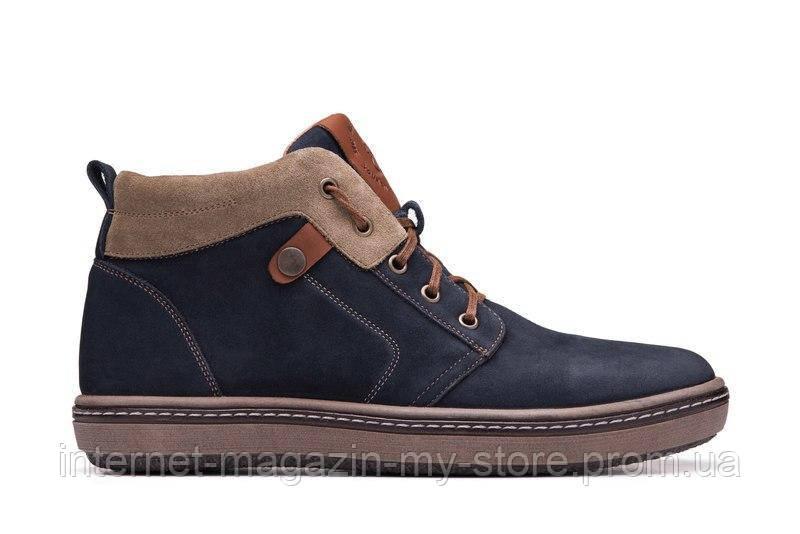 Мужские зимние кожаные ботинки  Blue Ocean Shoes