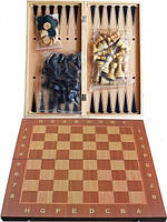 Набор 3в1 Нарды, Шахматы, Шашки W7721