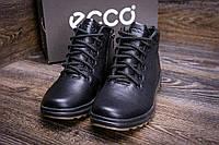 Мужские  зимние кожаные ботинки Ессо  black New Line, фото 1