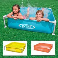 Детский каркасный бассейн квадратный интекс Intex 122х122х30 см