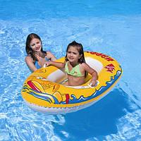 Детская надувная лодочка/лодка с удобными ручками 137*89см Bestway