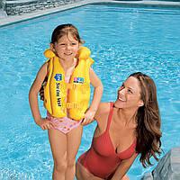 Детский надувной трехкамерный жилет интекс Intex от 3 до 6 лет