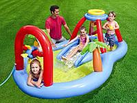 Надувной игровой центр, бассейн Windmill Blow Spray Play Center интекс Intex 295х193х107см
