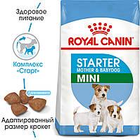Royal Canin Mini Starter 1кг - корм для щенков до 2 месяцев, беременные и кормящие суки мини пород