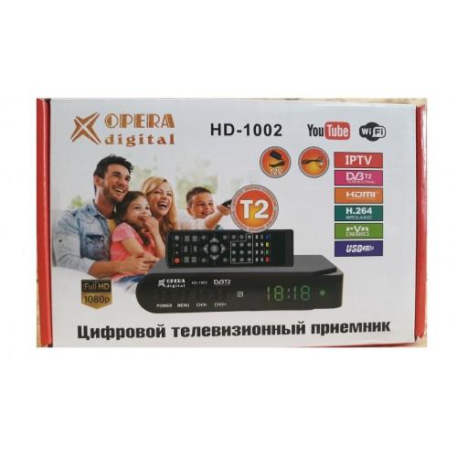Цифровой тюнер T2, телевізійний приймач, ресивер, приставка Opera HD 1002