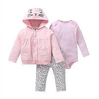 Комплект для девочки 3 в 1 Маленькая кошечка Berni Розовый (51820)