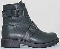 Ботинки женские зимние кожаные на низком каблуке от производителя модель СВ956, фото 1
