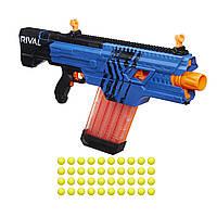 Оригинальный детский бластер Нерф Райвал Хаос синий Nerf Rival Khaos MXVI-4000 Blaster (Blue) B3860