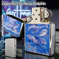 Зажигалка Zippo 21051 Bottle Nose Dolphin (Стая дельфинов)