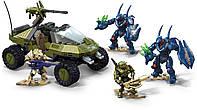 Оригинальный детский конструктор Мега Блокс Побег Вепря Хало Mega Bloks Construx Halo Warthog Run GFT55