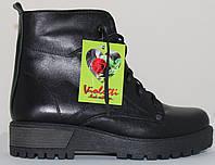 Ботинки женские зимние кожаные на низком каблуке от производителя модель СВ4690, фото 1