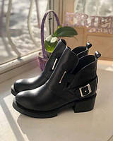 Осенние ботинки женские на каблуке Diesel ZS0067