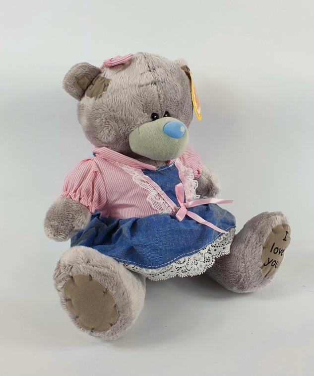 Плюшевый Мишка Тедди девочка в сарафане 22 см