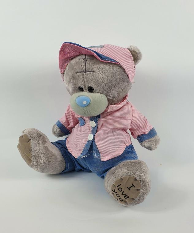 Мишка Тедди мальчик в одежде плюшевый мишка 22 см