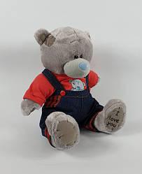 Мягкая игрушка Мишка Тедди мальчик в комбинезоне 22 см
