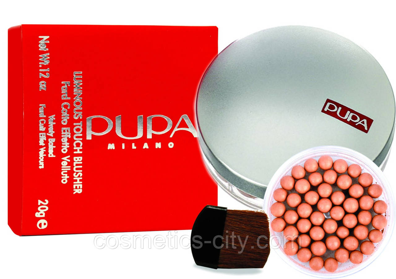 Румяна в шариках Pupa Milano Luminous Touch Blusher Fard Cotto Effetto Velluto