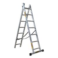 Лестница Drabest алюминиевая 2-х секционная DW2 2*8 ступеней 359