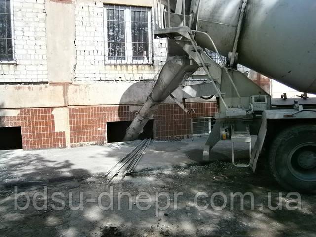 Изготовление бетонной стяжки в подвальном помещении