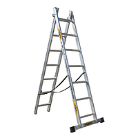 Лестница Drabest алюминиевая 2-х секционная DW2 2*9 ступеней 6738