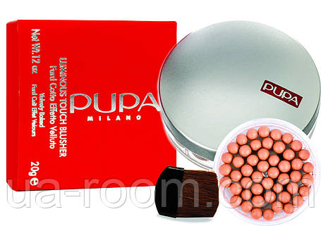 Румяна в шариках Pupa Milano Luminous Touch Blusher Fard Cotto Effetto Velluto, фото 2