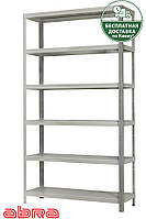 Стеллаж металлический для склада/магазина/дома ЧК-80 1813х920х720, покрашенный, 6 полок металл, до 80 кг/полку