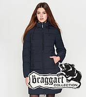 Braggart Youth | Куртка женская на зиму 25285 темно-синяя