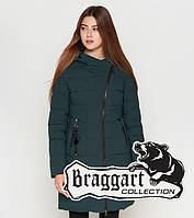 Braggart Youth   Женская куртка на зиму 25325 темно-зеленая