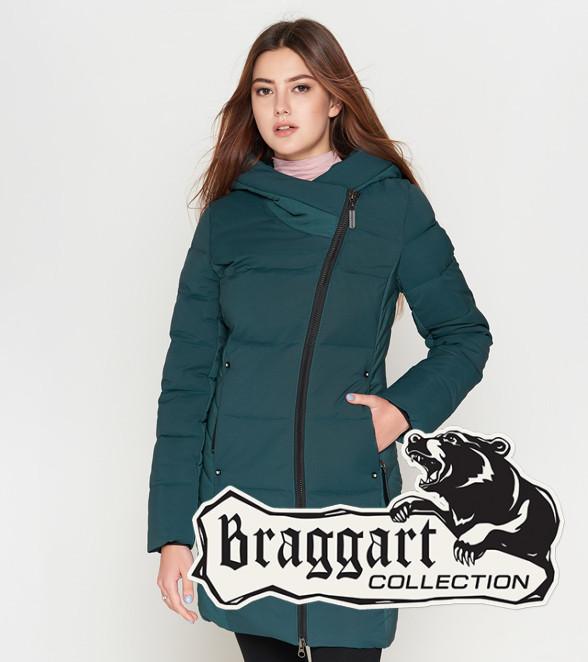 Braggart Youth | Теплая женская куртка зимняя 25085 бирюза